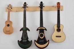 Alle Instrumente von Marco sind auf den ersten Blick als Antica-Ukulelen zu erkennen