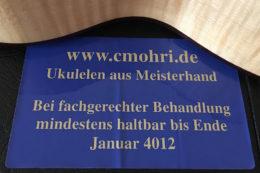 Eine Claus-Mohri-Ukulele kann von Generation zu Generation weitergereicht werden