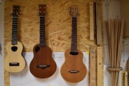 Bugle-Ukulele in Sopran-, Konzert- und Tenorgröße